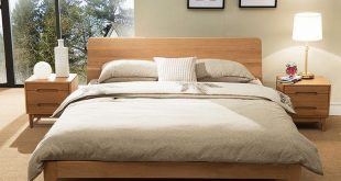 Beaumont Edition Wood Bed Frame (Solid Oak Wood)