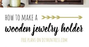DIY Wooden Jewelry Holder