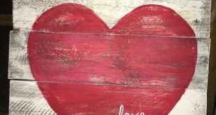 Heart decor,Rustic wood heart, love sign, white paint, valentine sign