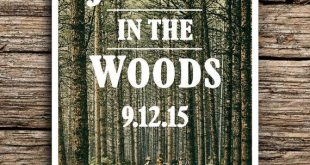 Rustic Woods Postcard Save the Date // In the Woods Wedding Invitation Post Cards Trees Vintage Pacific Northwest Woodland Forest Premium