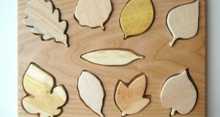 Wooden Leaf Puzzle, Montessori Toy, Organic Toy, Educational Toy, Toddler Development Wood Toy, Natural Wood Baby Toy, #PL9