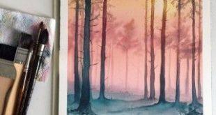 5-woods-aquarell-malerei-by-jessica-janik - Malerei Kunst