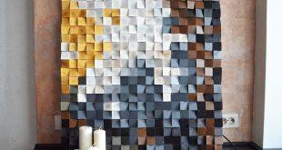 Wood wall art - Cherry blossom, Reclaimed Wood Art, Mosaic wood art, Geometric wall art, Rustic wood art, Wooden art, Wooden panel