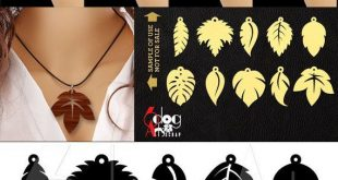 10 Wood Acrylic Leather Leaf Dangle Earring Pendant Templates Vector Digital SVG DXF Jewelry Cut Files Download Laser Die Cutting JB-1189