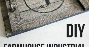 DIY-Bauernhaus-industrieller Umhüllungs-Behälter. Einfaches Projekt. OMG, ich kann das total machen … #WoodWorking