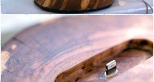 DIY Holz Log Iphone Docker Anweisungen – Rohholz Protokolle und Baumstümpfe DIY Ideen Pro