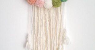 Pompom Wall Hanging – Custom To Order Machen Sie Ihre Wand mit diesem