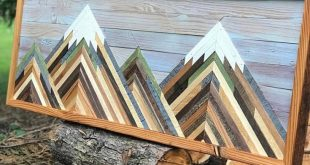 Reclaimed Wood Wall Art, Mountain Picture, Wood Wall Art, Wall Decor, Wall Art, Mountain Art, Mounta