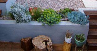 Schöne Gartengestaltung mit verschiedenen Ebenen, #ebenen #garten #gartengesta...
