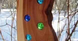 Suncatcher Spinner Cedar Wood Art Rustic Modern Country Decor Valentine Montana ...