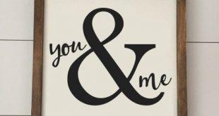 You & Me - Valentines Day Sign Verfügbar als Mini 8x8 Zeichen oder als Standard...