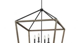 Feiss F3194/8WOW/AF Gannet Chandelier, Weathered Oak Wood / Antique Forged Iron