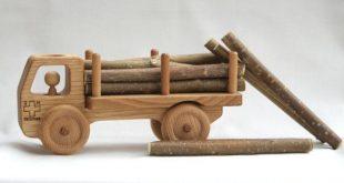 Holz Spielzeug Truck - Car-Holz - Waldorf Spielzeug - solide Kastanien-Holz