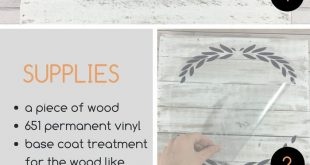 How to Apply Vinyl to Wood