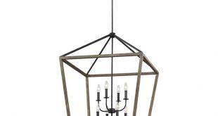 Natarsha 8-Light Lantern Geometric Pendant