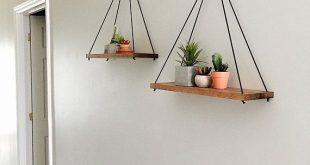 Rope shelves for plants | Hanging rope shelf | Succulent shelf | Rope shelf for bathroom | Floating shelves | Wood shelves | Swing shelf