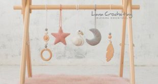 Swan Baby play gym/ baby gym toys. Blush & Gray. Wooden baby gym frame, crochet rattles. wooden mobiles. Baby shower gift. Girl nursery