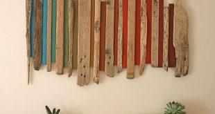 Teds Holzbearbeitung – Jurassic Coast Holzwand Kunst Wanddekoration von BigFab