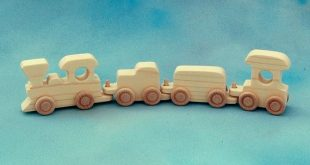 Wooden Toy Train 4 Car Set Wood Toy Choo Choo by nwtoycrafters, $10.00