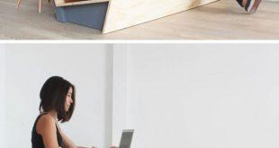 Machen Sie diese moderne Couch, die auch als Schreibtisch dient