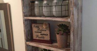 3 Tier Rustic Bathroom Shelf Decor, Farmhouse Furniture Bathroom Shelf Organizer, Ladder Shelf, Modern Wood and Rope Decor, Medicine Cabinet