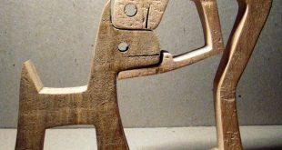 A man a dog; sculpture wood fretted - #dog #formen #fretted #man #Sculpture #woo...