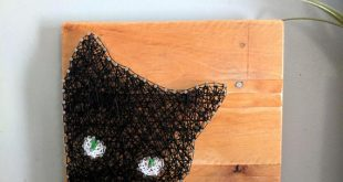 Black Cat Decor, Halloween String Art