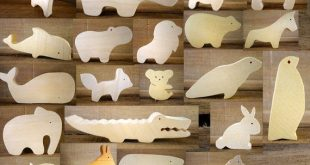 Choose 4 Wooden Animals // Montessori Toys // Nursery décor // baby wooden toys // imagination kid // Elephant - Bear // waldorf