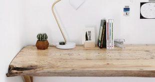 DIY: Live Edge Holz Schreibtisch