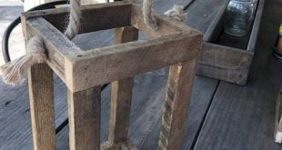 DIY Rustic Wood Lantern – The Little Frugal House #WoodWorking