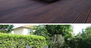 Deck-Design-Idee - Dieses erhöhte Holzdeck ist eigentlich eine schiebbare Poola...
