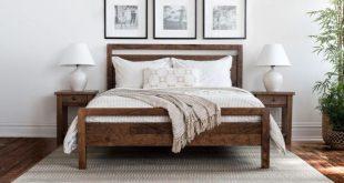Denton Bed | Handmade Mid Century Modern Wood Bed Frame