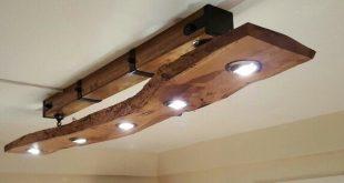 Diy Live Edge Oak Slab kitchen Light Fitting Diy Live Edge Oak Slab Küche Leuch...