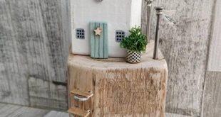 Driftwood House, Coastal Cottage, Driftwood Art, Seaside House, Beach House, Driftwood Sails, Beach Lovers Gift, Wood Sculpture, Wood House