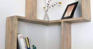 Eckregale Designs, die Raum sparen und modernen Look verleihen