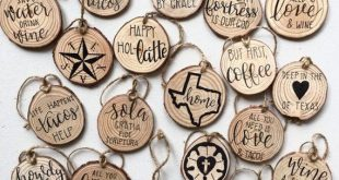 FREE DOMESTIC SHIPPING • Rustic Ornament • Magnet • Wood Slice • Coffee • Texas • Tacos • Wine • Ref