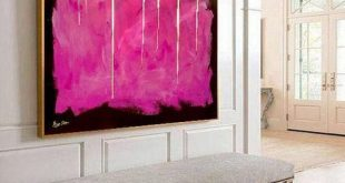Golden Curtain - Abstract Painting Large Wall Art Gold Painting on Canvas Pink Painting Oversize Painting Large Art Oil Contemporary Art