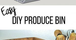 Großartige Idee! Einfache DIY Gemüselagerplatz mit Teiler