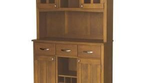 Home Styles Cottage Oak Buffet with Hutch 5100-0066-62