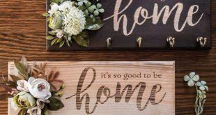 Key Holder For Wall Home Sweet Home Sign Key Rack Shabby Chic Decor Rose Flowers Key Organizer Key Hanger Key Hook Congratulations Gift Lake