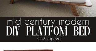 Mid Century Modern DIY Platform Bed - #bed #century #DIY #Mid #modern #platform