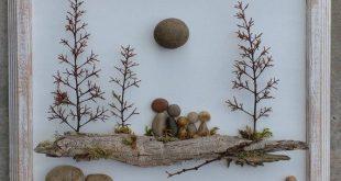 "Pebble Art, Rock, Pebble Art Family, Rock Art Family, family of five, blended family, unique pebble art, 8.5x11 ""open"" frame (FREE SHIPPING)"