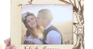 Personalized Rustic Wood Frame by Morgann Hill Designs #MorgannHillDesigns #Brag...