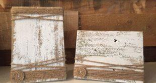 Rustikale Bild-Rahmen - Holz-Block Bild Rahmen -4 x 6-Jahrestag Geschenk - Hochzeit Herzstück - Bauernhaus Dekor - Valentinstag-Geschenke