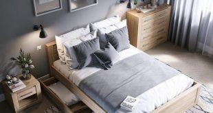 Schauen Sie sich das IDEA-Schlafzimmer in der neuen Version an. Die holzartigen