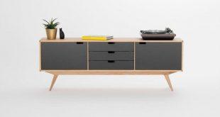 Sideboard, credenza, dresser, commode - made of oak wood