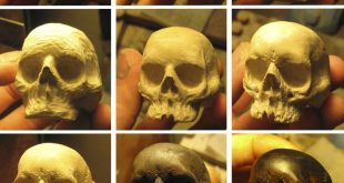 Small tutorial and the process of creating a wooden skull ring for man. It is no...