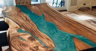 Tischkollektion - Epoxy, Holz, Holz-Epoxy, Harz, modern, minimalistisch, rustikal, natürlich, natürliche Form