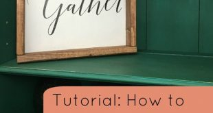 Tutorial: How to Add Wood Frames to Wood Signs