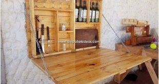 Um der heimischen Klappbar etwas Kreatives hinzuzufügen, die mit Holzmöbeln eingerichtet ist, … #WoodWorking